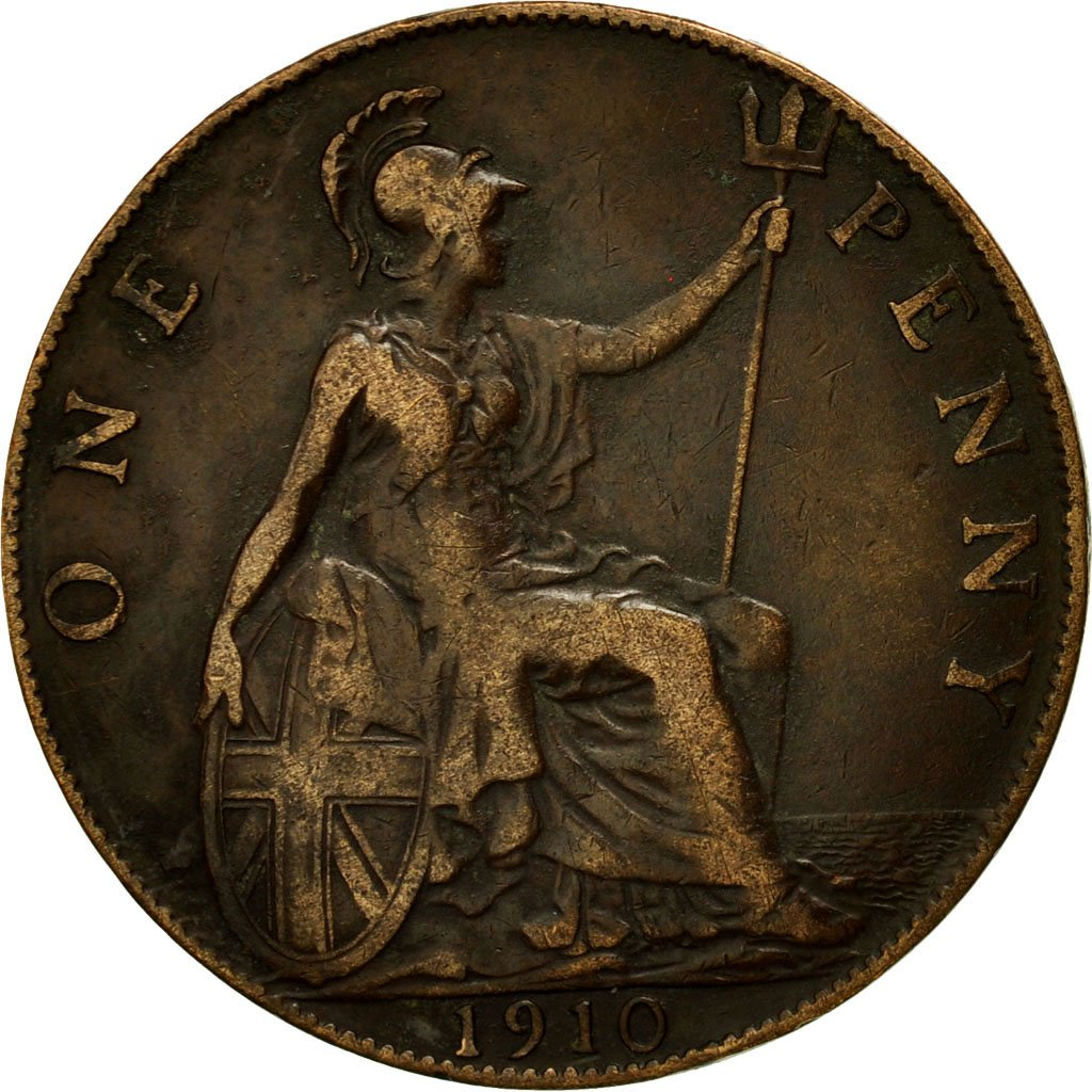 Penny 1910: Photo Coin, Great Britain, Penny, 1910