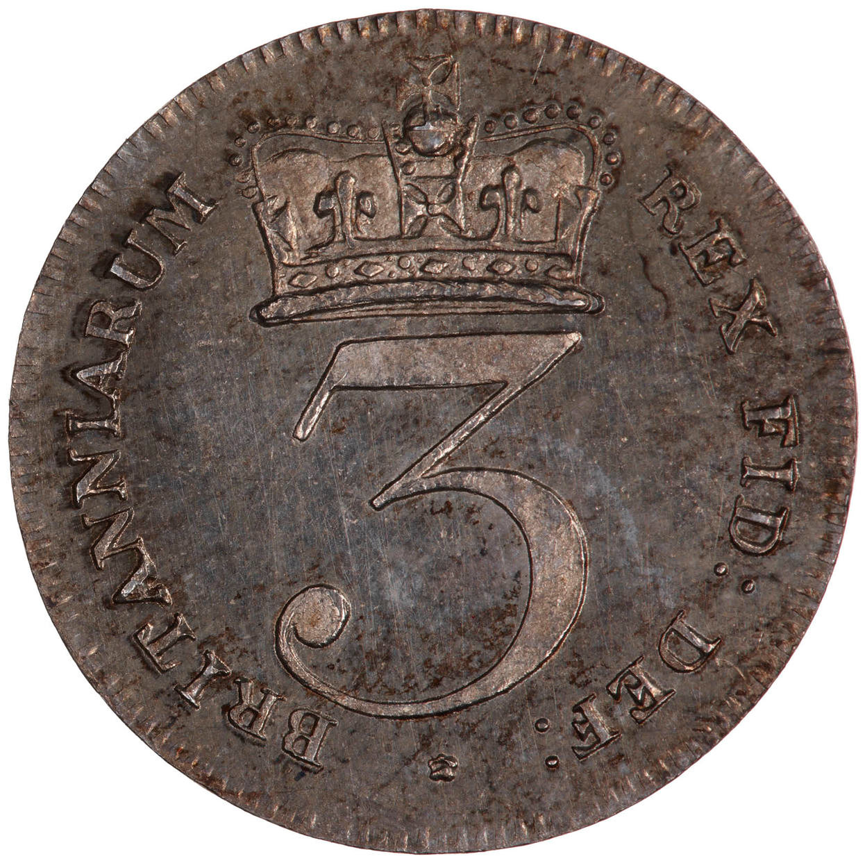 Maundy Threepence (Pre-decimal): Photo Coin - Threepence, George III, Great Britain, 1818