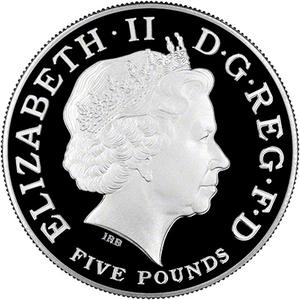 United Kingdom / Five Pounds 2004 Entente Cordiale - obverse photo