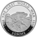 United Kingdom / Five Pounds 2016 Battle of the Somme - reverse photo