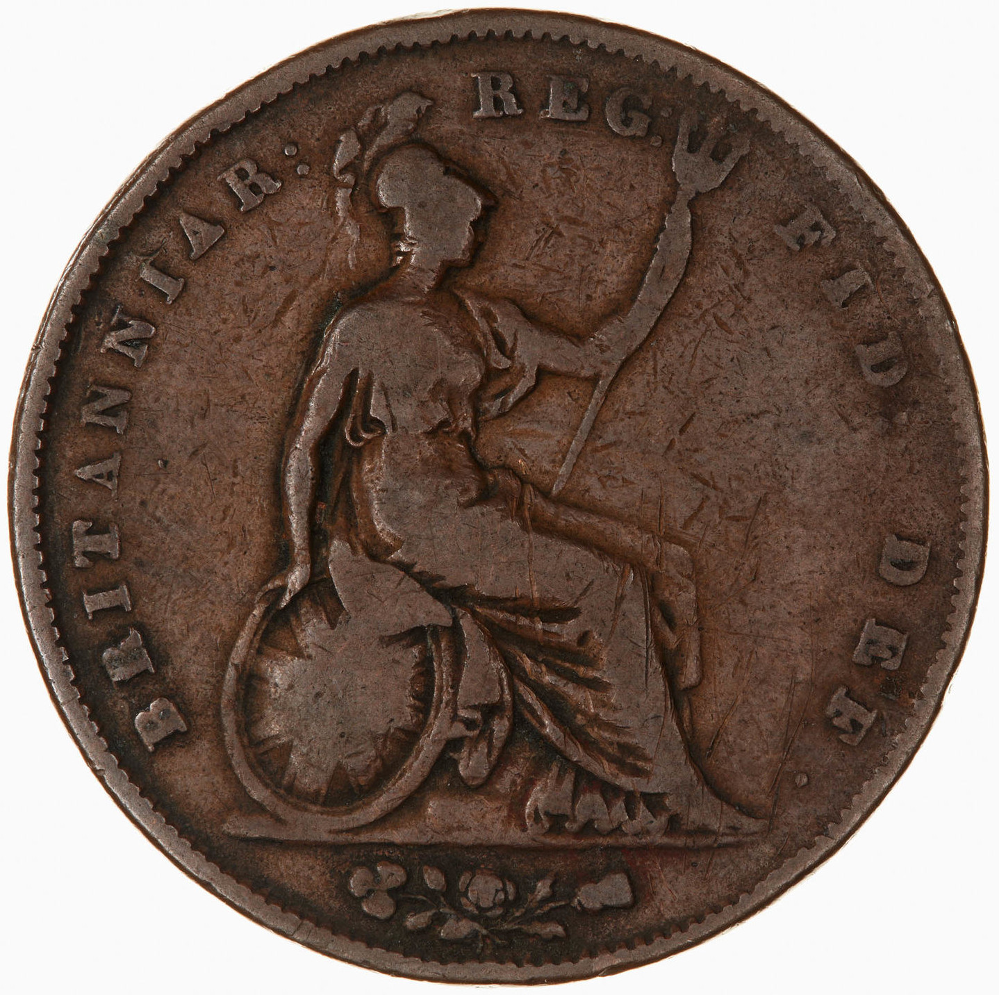 Penny 1845: Photo Coin - Penny, Queen Victoria, Great Britain, 1845