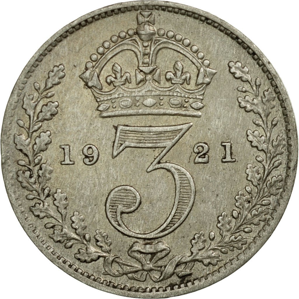 Threepence 1921 (Circulating): Photo Coin, Great Britain, 3 Pence, 1921