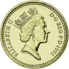 United Kingdom / One Pound 1991 Flax and Diadem - obverse photo