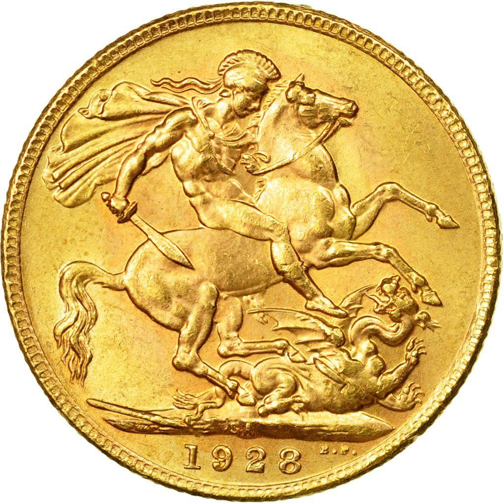 Sovereign 1928: Photo South Africa, George V, Sovereign, 1928