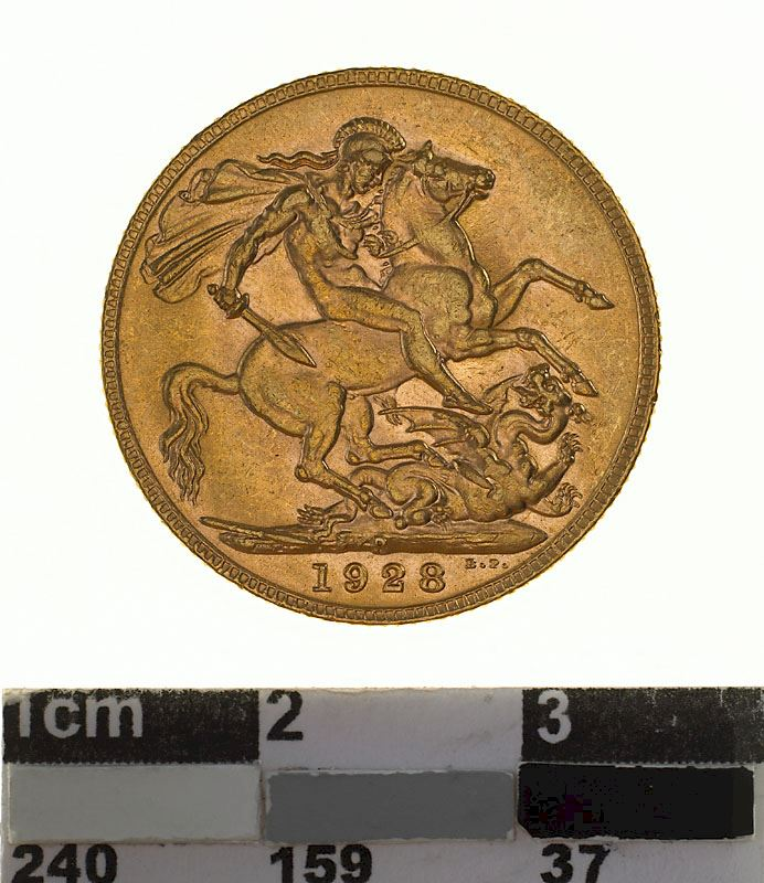 Sovereign 1928: Photo Coin - Sovereign, Western Australia, Australia, 1928