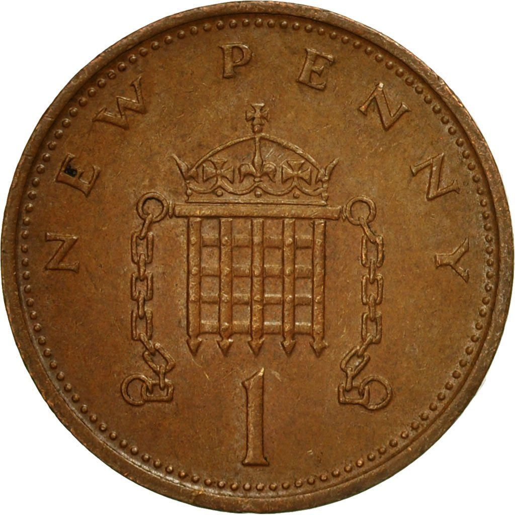 One Penny 1974: Photo Coin, Great Britain, Elizabeth II, New Penny, 1974