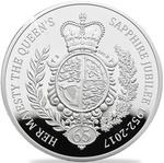 United Kingdom / Silver Five Ounces 2017 Sapphire Jubilee - reverse photo