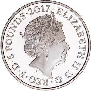 United Kingdom / Five Pounds 2017 Medical Services - obverse photo