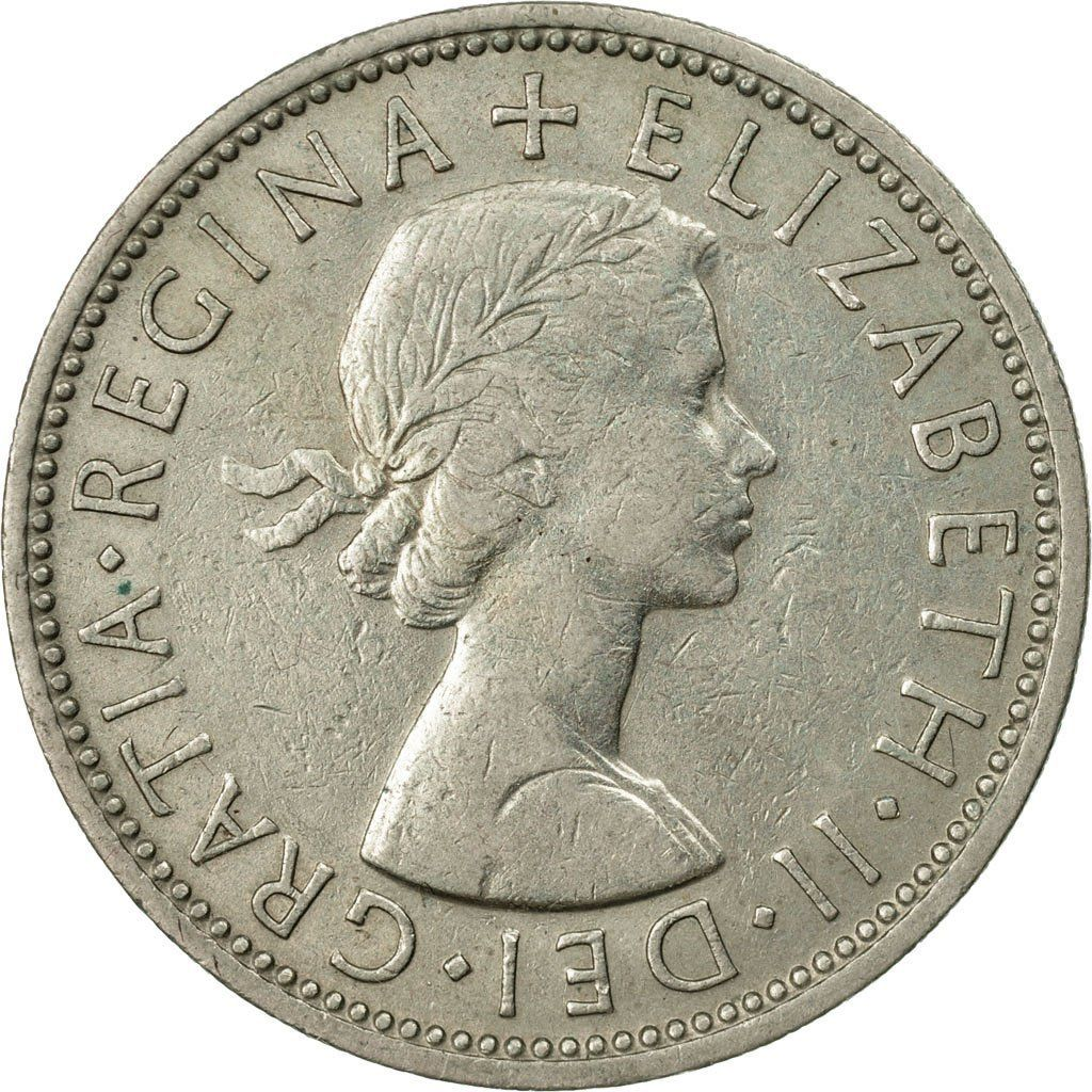 Two Shillings (Florin) 1961: Photo Coin, Great Britain, Elizabeth II, Florin, Two Shillings, 1961