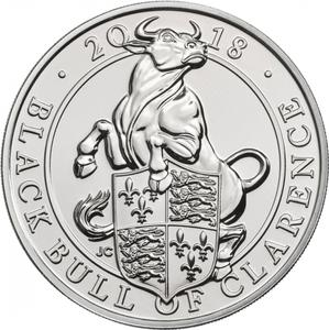 United Kingdom / Five Pounds 2018 Black Bull of Clarence - reverse photo