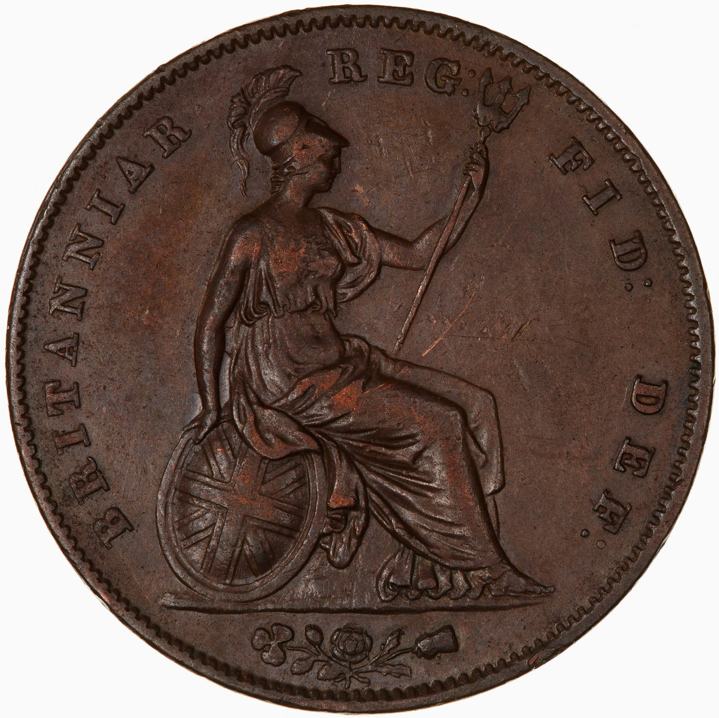 Penny 1847: Photo Coin - Penny, Queen Victoria, Great Britain, 1847