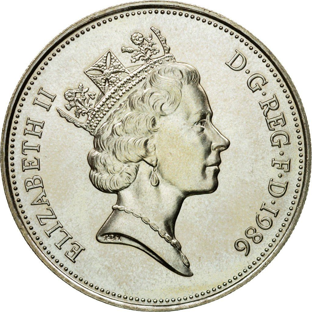 Ten Pence 1986 (Proof and mint sets only): Photo Coin, Great Britain, Elizabeth II, 10 Pence, 1986