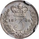 United Kingdom / Threepence 1868 (Maundy) - reverse photo