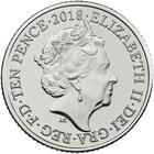 United Kingdom / Ten Pence 2018 F - Fish and Chips / Early Strike Uncirculated - obverse photo