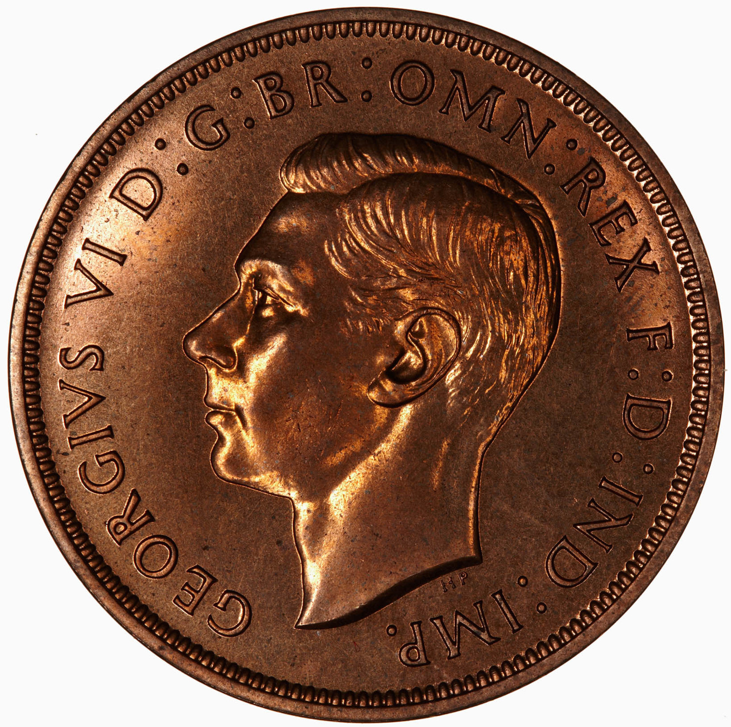 Penny (Pre-decimal): Photo Proof Coin - Penny, George VI, Great Britain, 1937