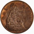 Penny 1917: Photo Coin - Penny, George V, Great Britain, 1917