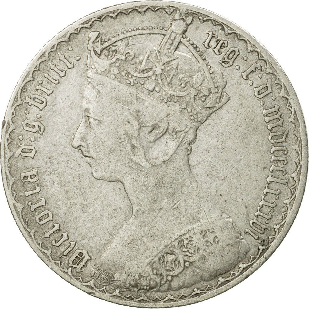 Florin 1886: Photo Coin, Great Britain, Victoria, Florin, Two Shillings, 1886