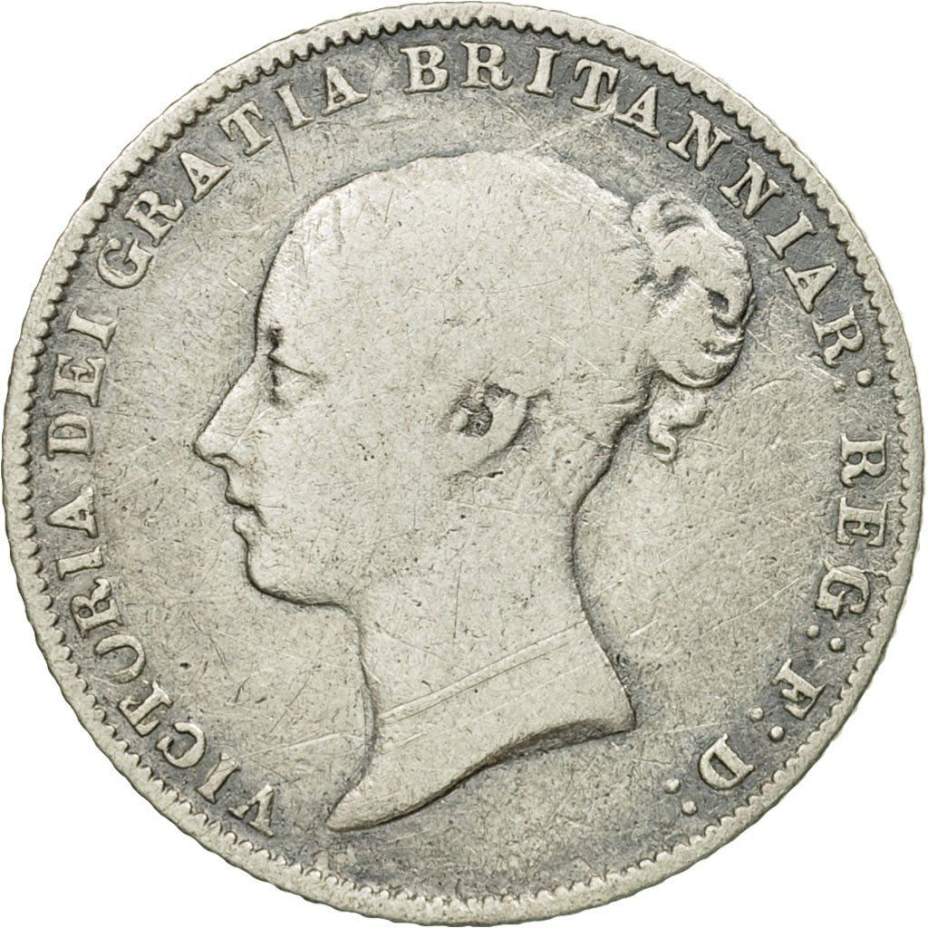 Sixpence 1863: Photo Coin, Great Britain, Victoria, 6 Pence, 1863