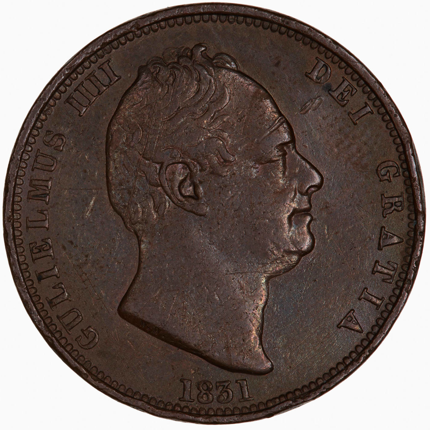 Halfpenny 1831: Photo Coin - Halfpenny, William IV, Great Britain, 1831