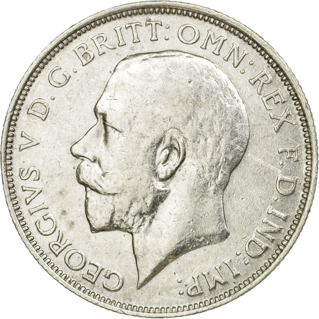 Florin 1914: Photo Coin, Great Britain, Florin, 1914