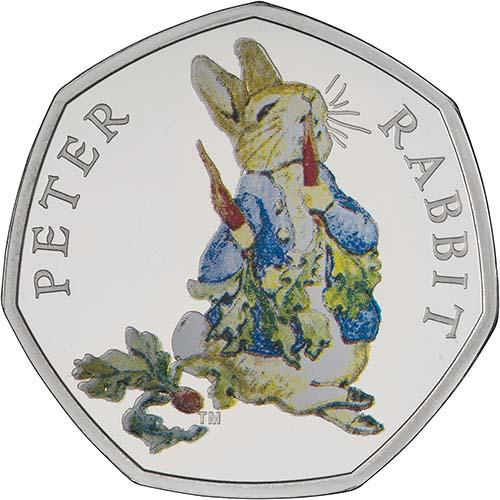 Fifty Pence 2018 Peter Rabbit: Photo 2018 UK Coin 50p Silver Proof Beatrix Potter - Peter Rabbit