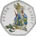 United Kingdom / Fifty Pence 2018 Peter Rabbit / Silver Proof FDC - reverse photo