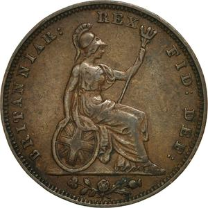 United Kingdom / Farthing 1826 (Second Issue) - reverse photo