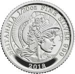 United Kingdom / Silver Twentieth-Ounce 2018 Britannia - reverse photo