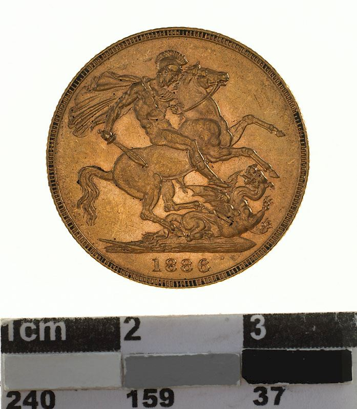 Sovereign 1886 St George: Photo Coin - Sovereign, Victoria, Australia, 1886