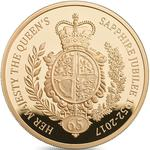 United Kingdom / Gold Five Ounces 2017 Sapphire Jubilee - reverse photo