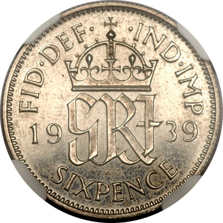 Sixpence 1939: Photo Great Britain 1939 6 pence