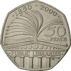 United Kingdom / Fifty Pence 2000 Public Libraries Act - reverse photo