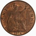 Penny 1914: Photo Coin - Penny, George V, Great Britain, 1914