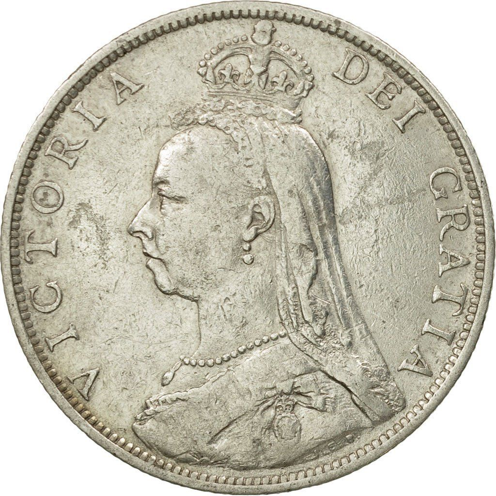 Florin 1889: Photo Coin, Great Britain, Victoria, Florin, Two Shillings, 1889