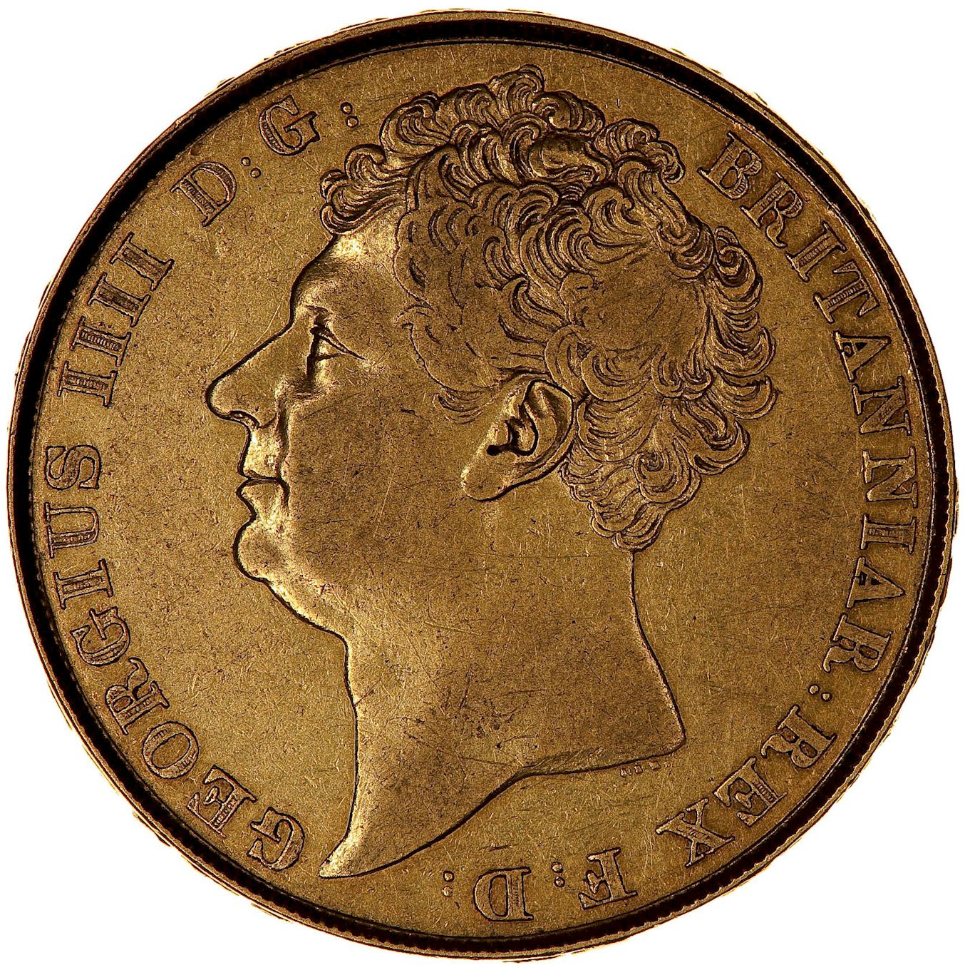 Two Pounds (Pre-decimal): Photo Coin - 2 Pounds, George IV, Great Britain, 1823