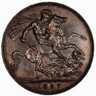 Crown 1897: Photo Coin - Crown, Queen Victoria, Great Britain, 1897