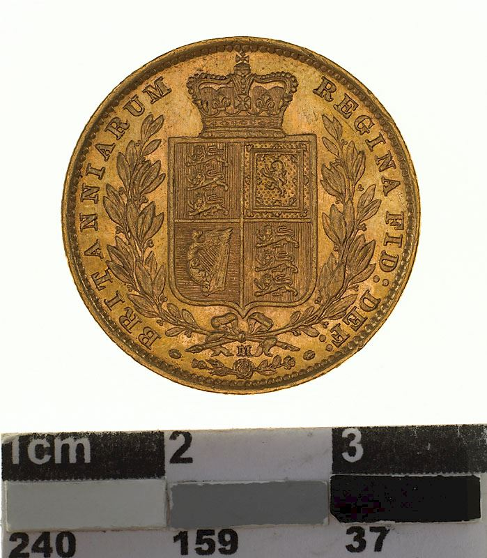 Sovereign 1884 Shield: Photo Coin - Sovereign, Victoria, Australia, 1884