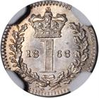 Penny 1868 (Maundy): Photo Great Britain 1868 penny KM-727