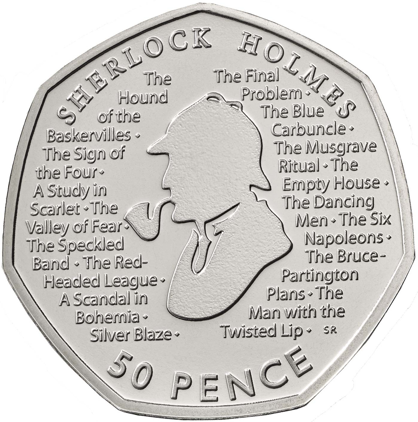 Fifty Pence 2019 Sherlock Holmes: Photo Sherlock Holmes 2019 UK 50p Brilliant Uncirculated Coin