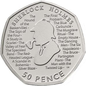 United Kingdom / Fifty Pence 2019 Sherlock Holmes - reverse photo