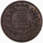 Sixpence 1838: Photo Coin - Sixpence, Queen Victoria, Great Britain, 1838