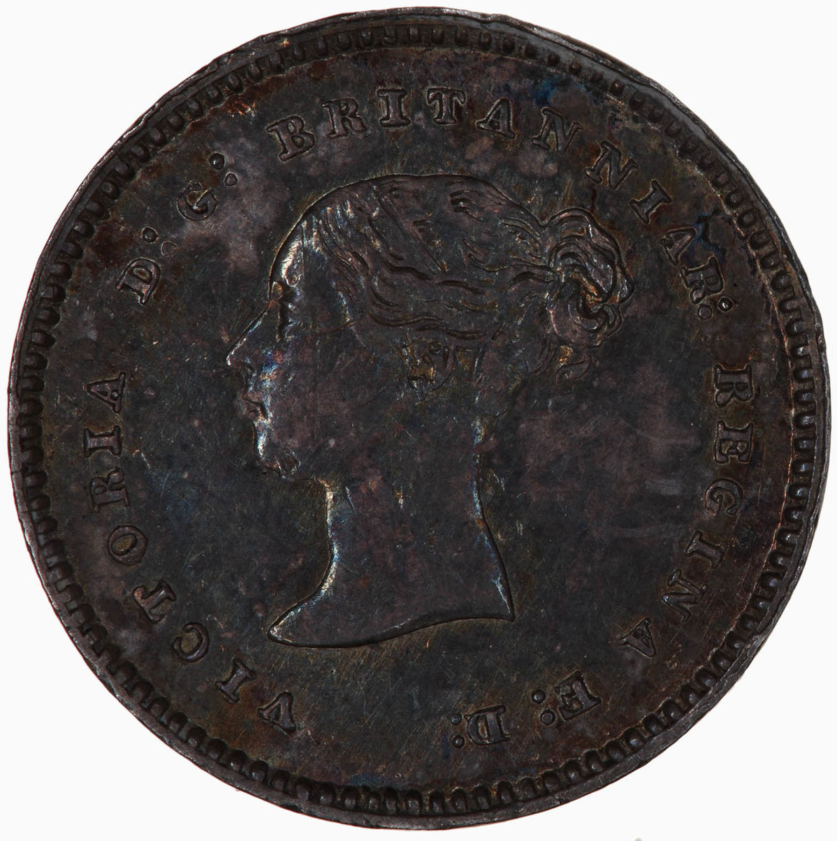 Twopence 1848 (Maundy): Photo Coin - Twopence (Maundy), Queen Victoria, Great Britain, 1848