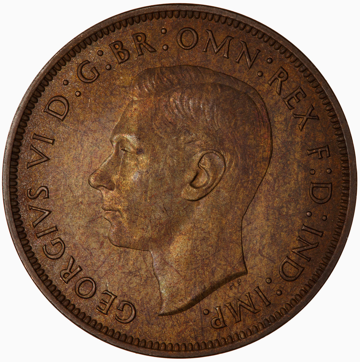 Penny 1944: Photo Proof Coin - Penny, George VI, Great Britain, 1944