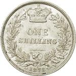 Shilling 1878: Photo Silver shilling, Great Britain