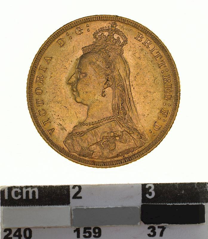 Sovereign 1889: Photo Coin - Sovereign, Victoria, Australia, 1889