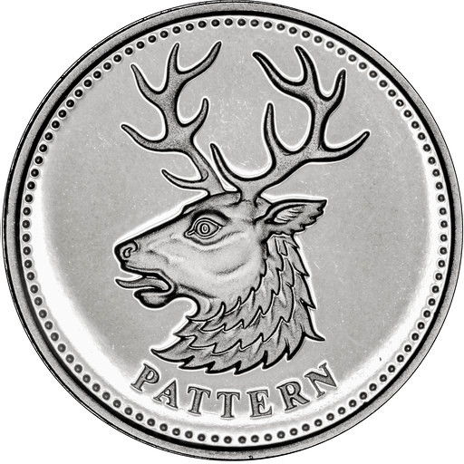 One Pound 2004 White Hart (Pattern): Photo 2004 Silver Proof Beasts Pattern £1 Coin Set - White Hart