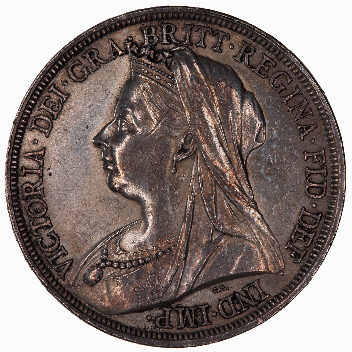 Crown (St George): Photo Coin - Crown, Queen Victoria, Great Britain, 1897