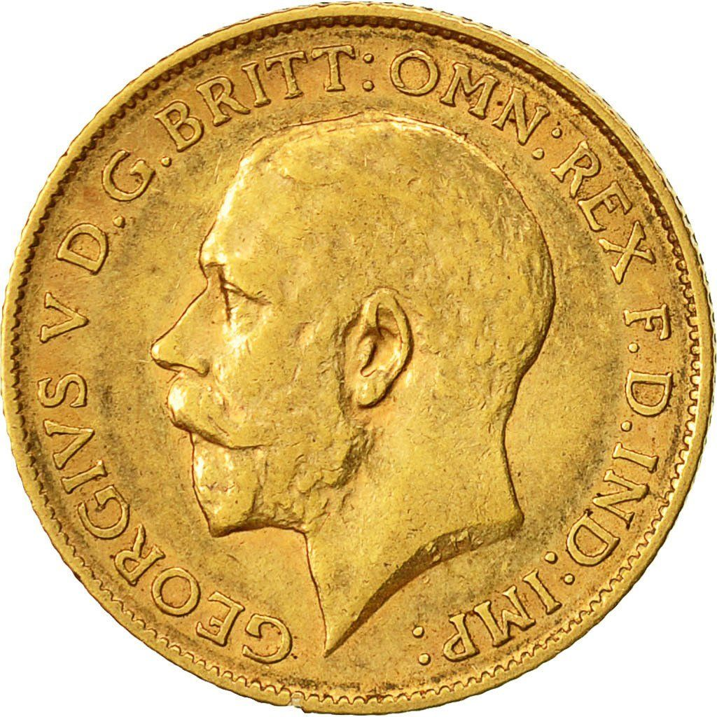 Half Sovereign 1911: Photo Coin, Great Britain, George V, 1/2 Sovereign, 1911
