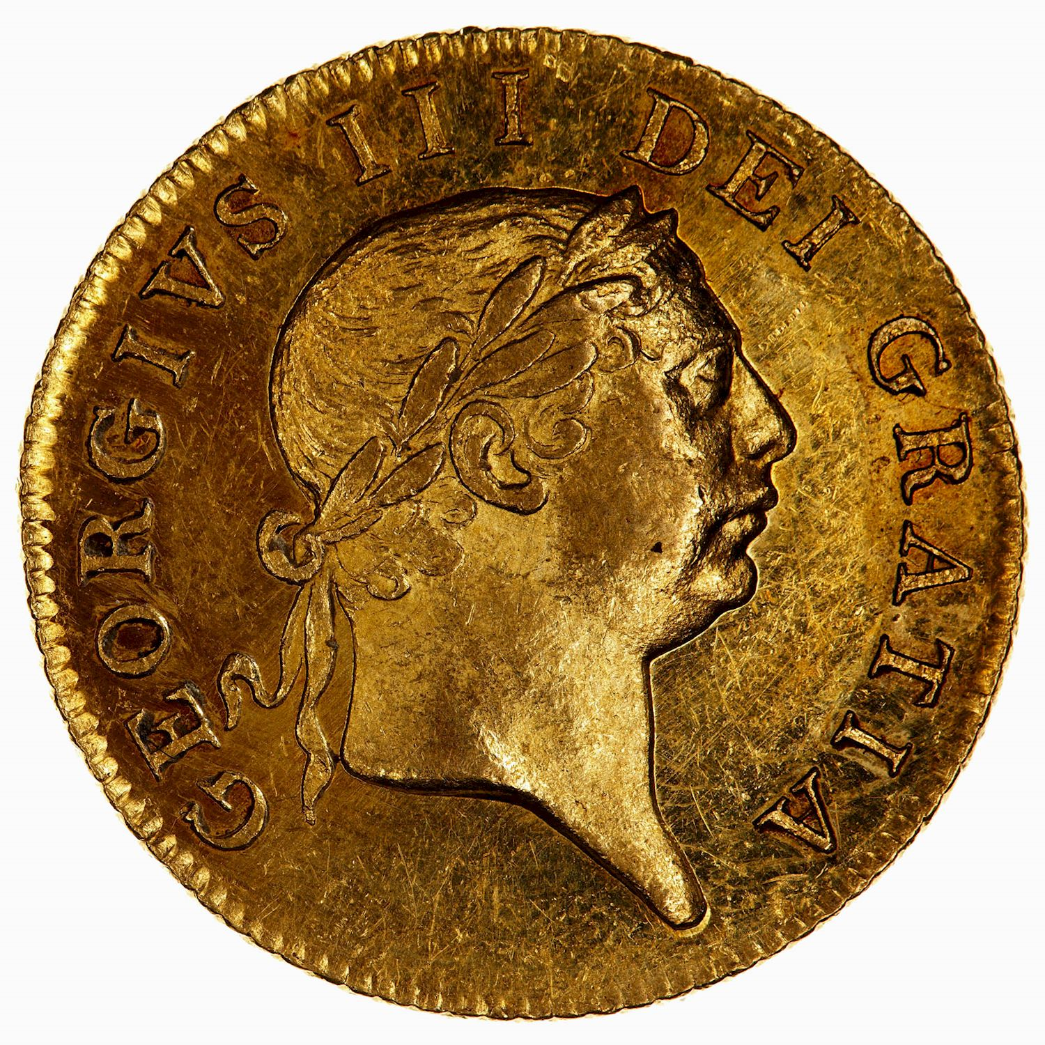 Guinea: Photo Coin - 1 Guinea, George III, Great Britain, 1813