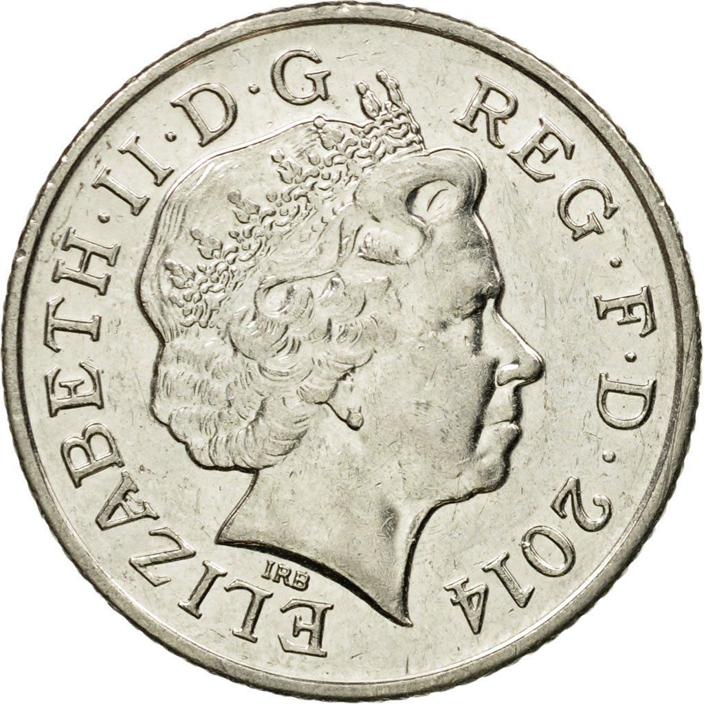 10 pence british coin
